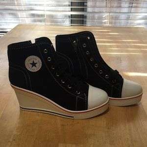 High Heeled Wedge Sneakers (Size 40, US 9.5)